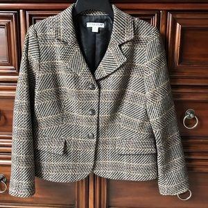 Pendleton Petite Tweed Wool Blazer